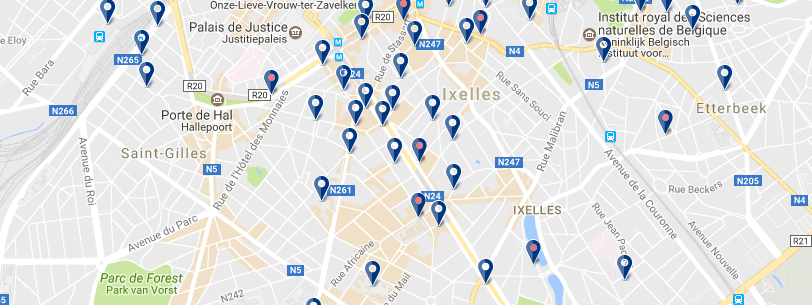 Alojamiento en Ixelles - Clicca qui per vedere tutti gli hotel su una mappa