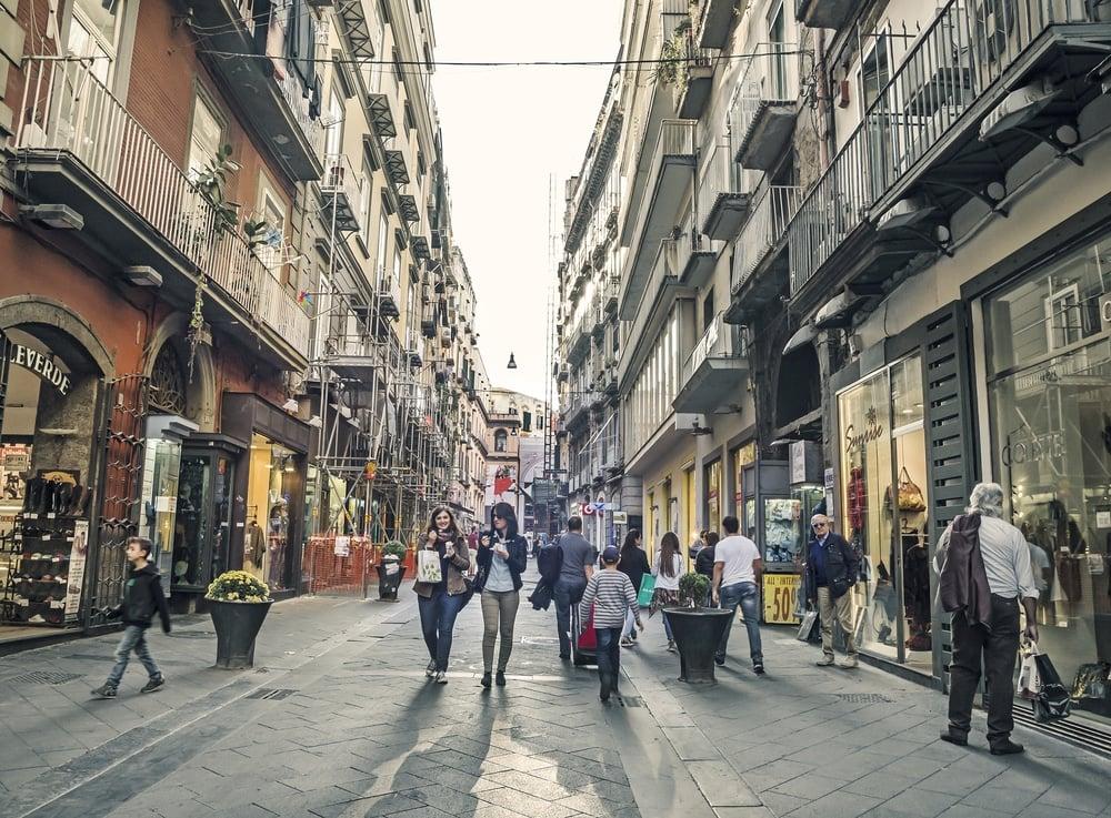 Dormir en Chiaia - El barrio de compras de Nápoles