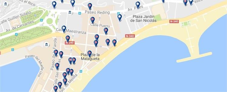 La Malagueta - Malaga - Clicca qui per vedere tutti gli hotel su una mappa