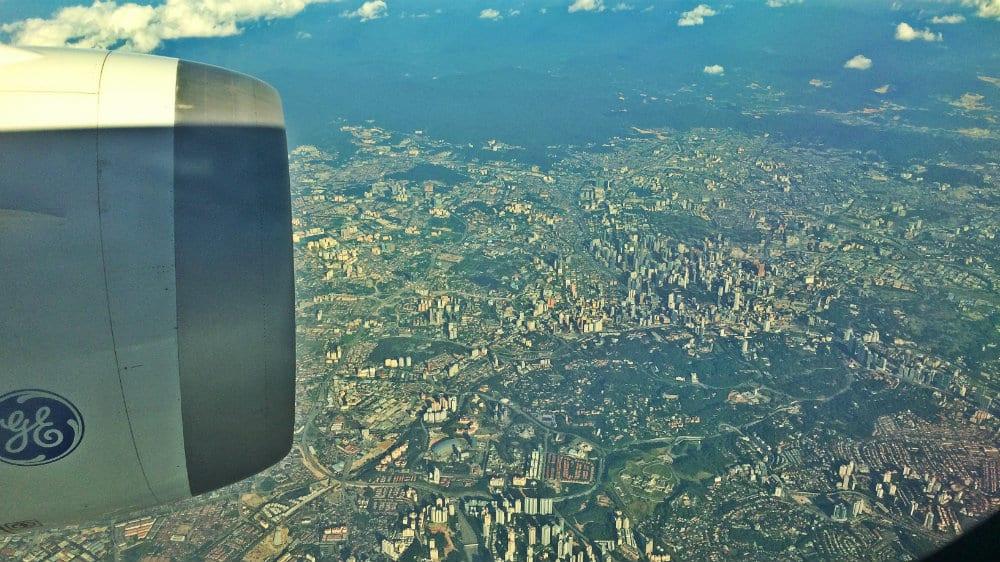 Kuala Lumpur desde el aire