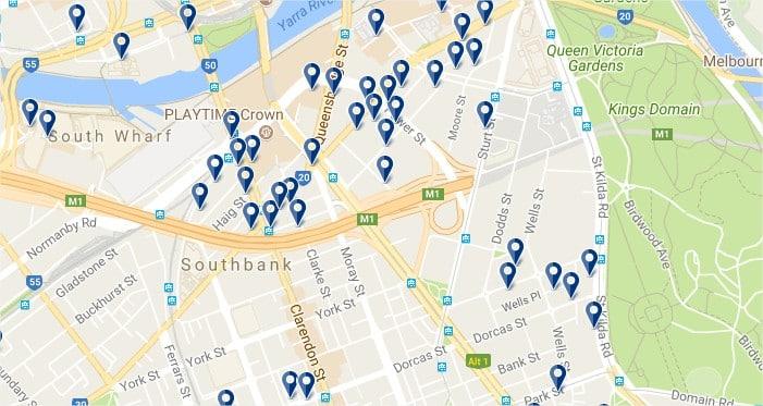 Melbourne Southbank - Haz clic para ver todos los hoteles en un mapa