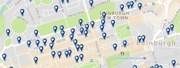New Town de Edimburgo - Haz clic para ver todos los hoteles en un mapa