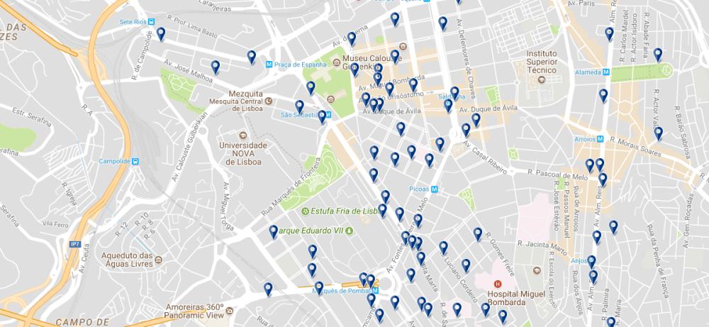 Avenidas Novas - Haz clic para ver todos los hoteles en esta zona