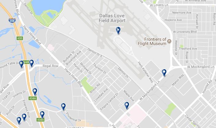 Dallas Love Field Airport - Haz clic para ver todos los hoteles en esta zona