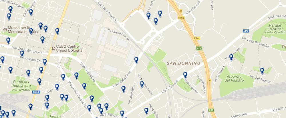 Bologna Fiere - Clicca qui per vedere tutti gli hotel su una mappa