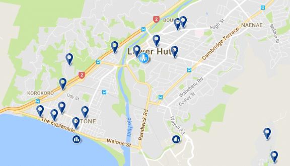 Lower Hutt - Haz clic para ver todos los hoteles en esta zona