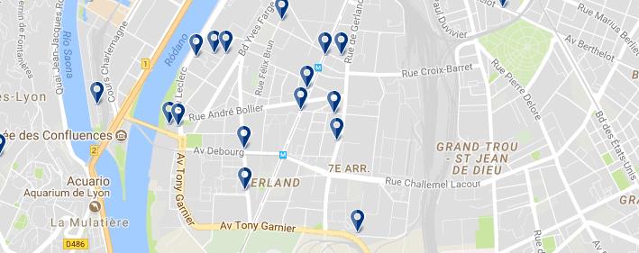 7 arr. Lione - Clicca qui per vedere tutti gli hotel su una mappa