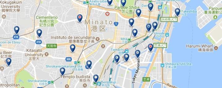 Tokio - Minato - Haz clic para ver todos los hoteles en un mapa