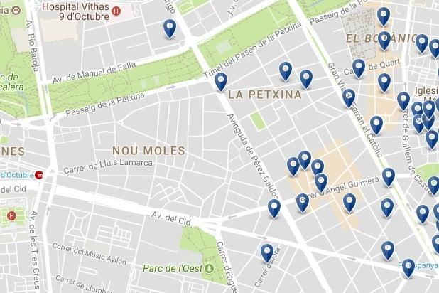 Valencia - Extramurs - Clicca qui per vedere tutti gli hotel su una mappa