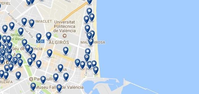 Valencia - Poblats Maritims - Haz clic para ver todos los hoteles en un mapa