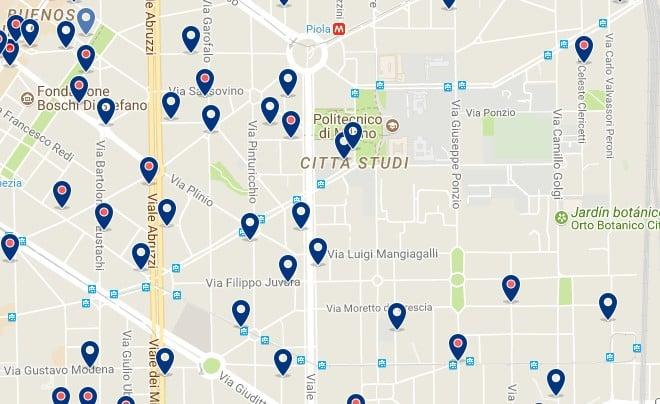 Milano - Città Studi - Haz clic para ver todos los hoteles en un mapa