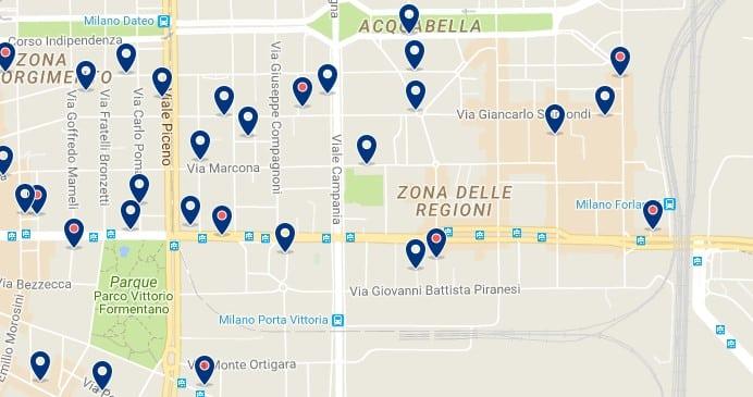 Milano - Porta Vittoria - Haz clic para ver todos los hoteles en un mapa