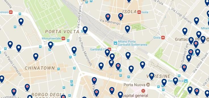 Milano - Stazione Garibaldi - Haz clic para ver todos los hoteles en un mapa