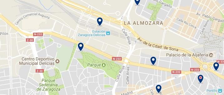 Zaragoza - Delicias - Haz clic para ver todos los hoteles en un mapa