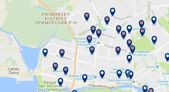 Saint Petersburg Primorsky - Haz clic para ver todos los hoteles en un mapa