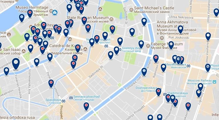 San Petersburg - Tsentralny District - Haz clic para ver todos los hoteles en un mapa