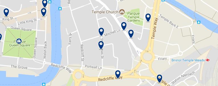 Bristol - Temple - Haz clic para ver todos los hoteles en un mapa