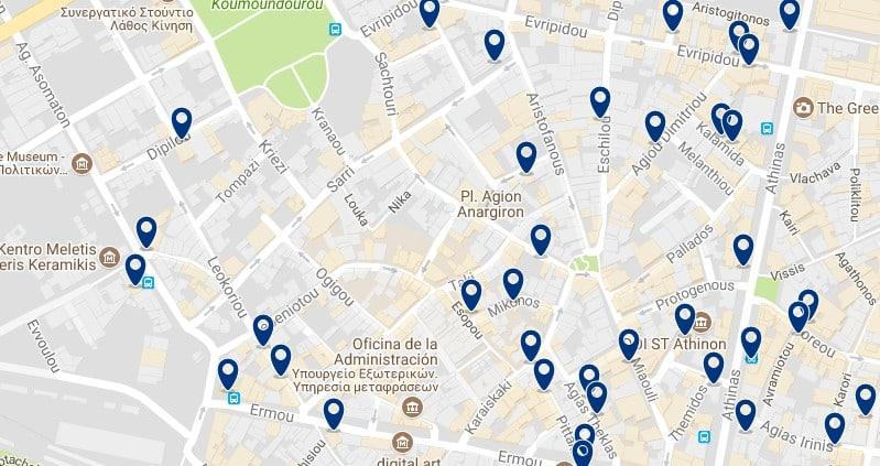 Atenas - Psiri - Haz clic para ver todos los hoteles en un mapa
