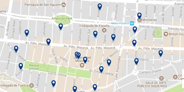 Ciudad de México - Polanco - Haz clic para ver todos los hoteles en un mapa
