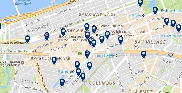 Boston - Back Bay - Clicca qui per vedere tutti gli hotel su una mappa