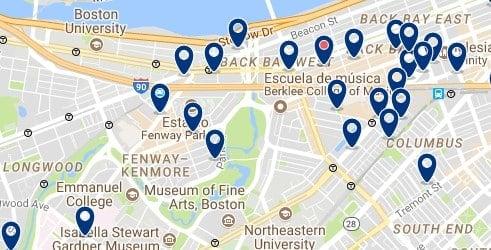 Boston - Fenway-Kenmore - Clicca qui per vedere tutti gli hotel su una mappa