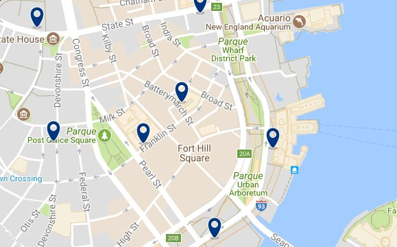 Boston - Financial District - Haz clic para ver todos los hoteles en un mapa