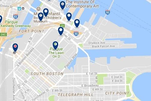 Boston - South Boston - Haz clic para ver todos los hoteles en un mapa