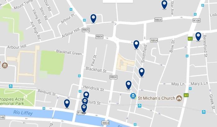 Dublin - Stoneybatter & Smithfield Village - Haz clic para ver todos los hoteles en un mapa