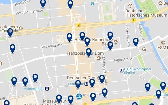 Berlin - Friedrichstrasse - Haz clic para ver todos los hoteles en un mapa
