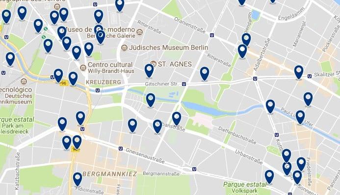 Berlin - Kreuzberg - Haz clic para ver todos los hoteles en un mapa