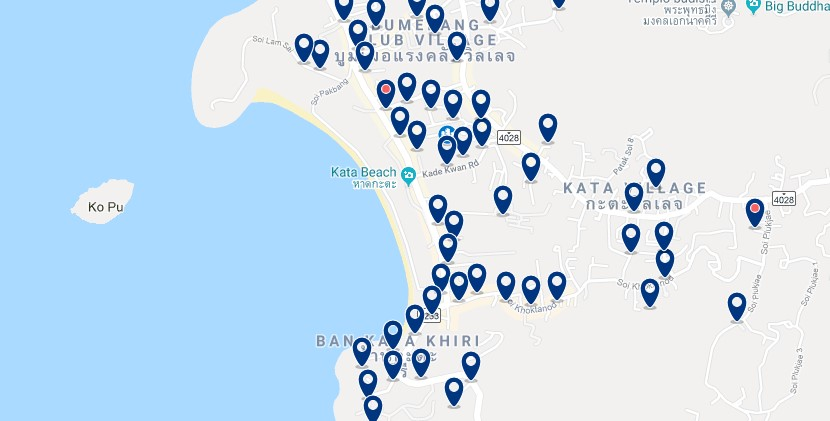 Phuket - Kata Beach - Haz clic para ver todos los hoteles en un mapa