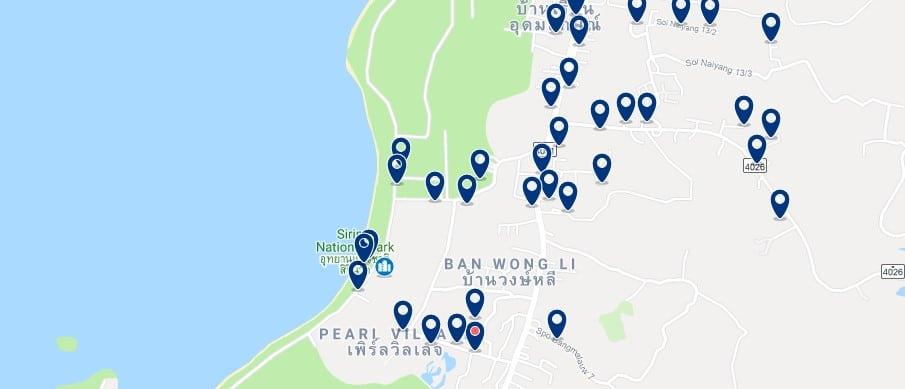 Phuket - Nai Yang Beach - Haz clic para ver todos los hoteles en un mapa
