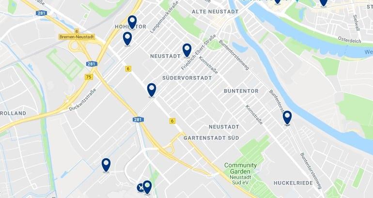 Bremen - Neustadt - Haz clic para ver todos los hoteles en un mapa