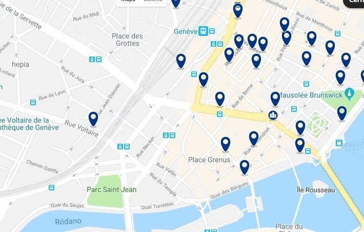 Ginebra - Saint-Gervais & Grottes - Haz clic para ver todos los hoteles en un mapa