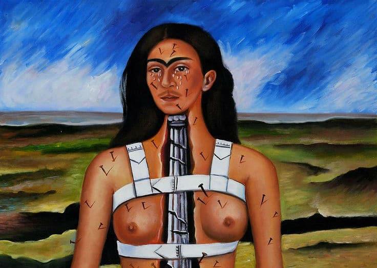 """""""La columna rota"""" de Frida Kahlo"""