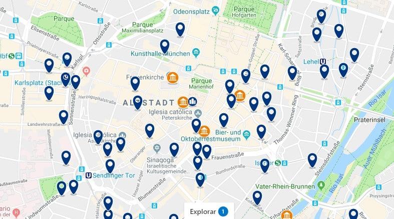 München - Altstadt - Haz clic para ver todos los hoteles en un mapa
