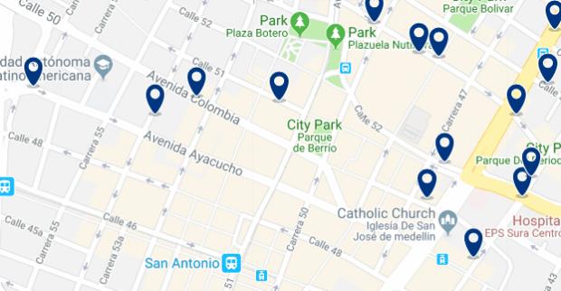 Medellin - La Candelaria - Clicca qui per vedere tutti gli hotel su una mappa