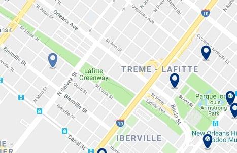 New Orleans - Treme - Lafitte - Haz clic para ver todos los hoteles en un mapa