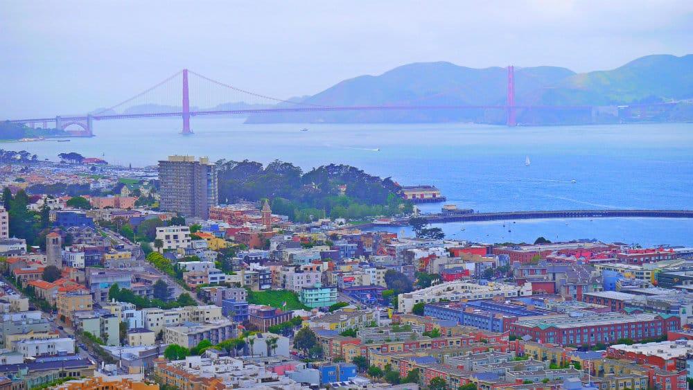 Vistas del Golden Gate desde el mirador de la Coit Tower - San Francisco