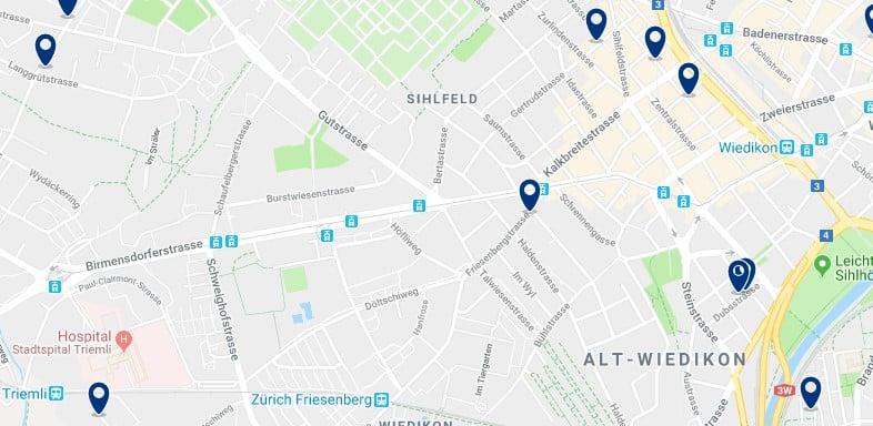 Zürich - Wiedikon & Sihlfeld - Haz clic para ver todos los hoteles en un mapa