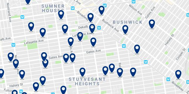 Brooklyn - Bushwick - Haz clic para ver todos los hoteles en un mapa