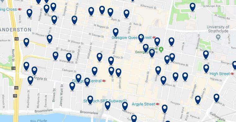 Glasgow - City Centre - Haz clic para ver todos los hoteles en un mapa