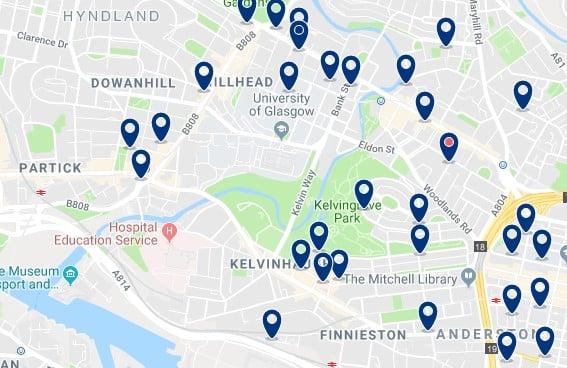 Glasgow - North West - Haz clic para ver todos los hoteles en un mapa