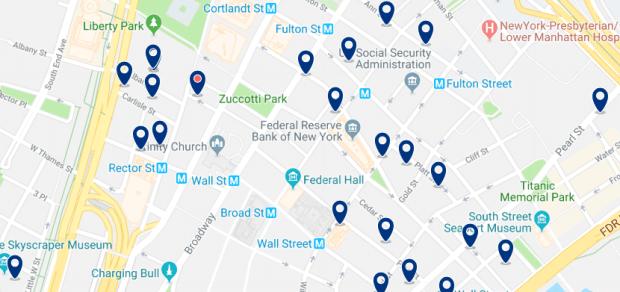 Nueva York - Financial District - Haz clic para ver todos los hoteles en un mapa