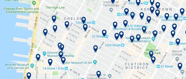 Nueva York - Meatpacking District - Haz clic para ver todos los hoteles en un mapa