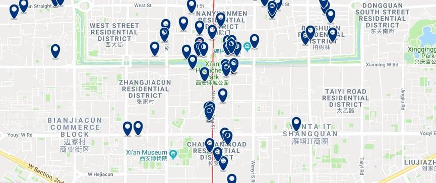 Xi'an - Beilin - Haz clic para ver todos los hoteles en un mapa