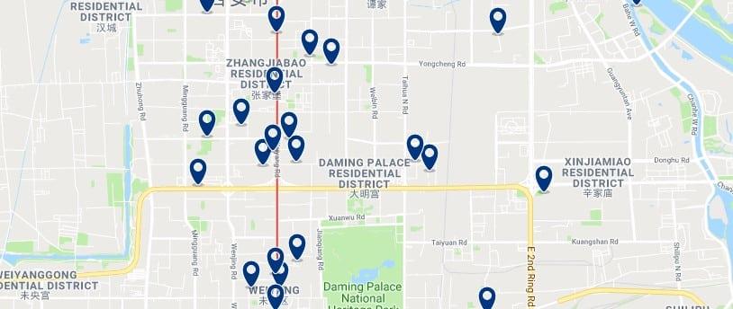 Xi'an - Weiyang - Haz clic para ver todos los hoteles en un mapa