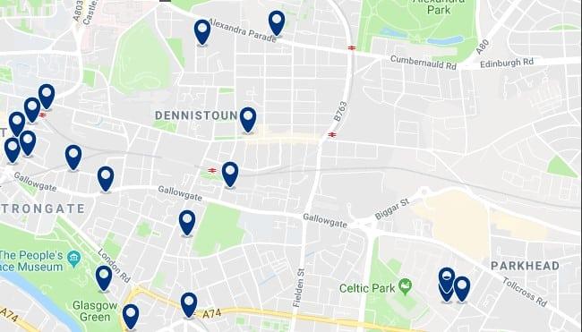 Glasgow - East End - Haz clic para ver todos los hoteles en un mapa