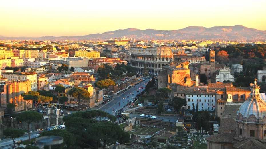 Qué ver en Roma en 2 días - Foros Imperiales y Coliseo desde el Altar de la Patria