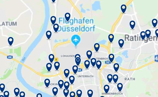 Düsseldorf – Flughafen – Haz clic para ver todos los hoteles en un mapa